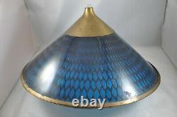 MOE Mid Century Atomic Modern Moe Honeycomb Saucer Chandelier Light Fixture 1960