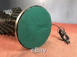 Mid Century 70s Art Deco Table Lamp Tubular Sculpture Brass Brutalist 9 lights