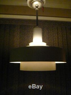 Mid Century Atomic Saturn Concentric Ring Ceiling Light Industrial Machine Age