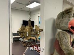 Mid Century Brutalist Lighting Greene Swag Hanging Lamp Chandelier Torched