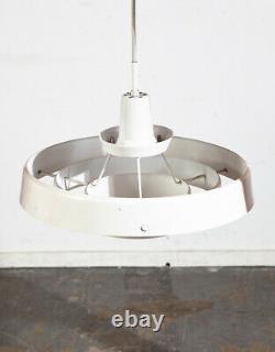 Mid Century Danish Modern Pendant Lamp Light Lyfa White Hanging Denmark