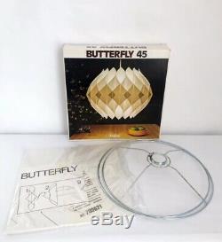 Mid-Century Danish White Pendant Light Butterfly 45 Kit Lars Schiøler Hoyrup