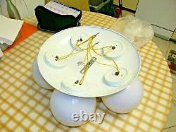 Mid Century Eames Era 5 Globe ORB Flush mount Ceiling Light Fixture 60'S RETRO