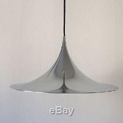Mid Century FOG & MORUP Chrom SEMI PENDANT LAMP Light BONDERUP & THORUP 47 cm