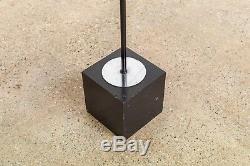 Mid Century Floor Lamp Sonneman Style Black Orb Articulating Floor Light Vintage