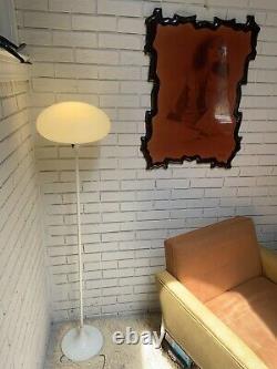 Mid-Century Laurel Floor Lamp Mushroom Shade Light