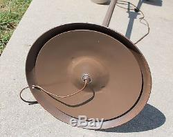 Mid Century Modern 3 Lamp Floor Pole Light Atomic Age Danish Retro Brown Brass