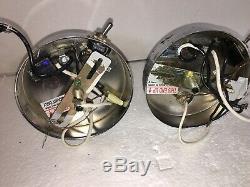 Mid Century Modern Atomic Starburst Light Fixture Pair 2 MCM Sconce Wiring Deco