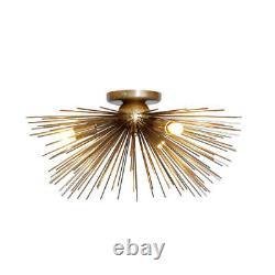 Mid Century Modern Brass Sputnik Starburst Urchin Wall Sconce Flush Mount Light