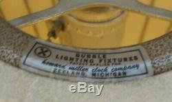 Mid Century Modern Howard Miller George Nelson Bell Pendant Bubble Light 23