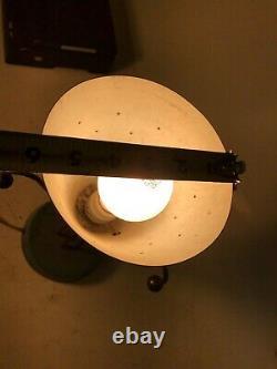 Mid Century Modern MCM sputnik atomic satellite lamp vintage light Turquoise