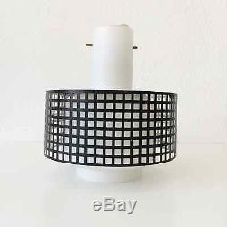 Mid Century Modern PENDANT LAMP Hanging Light OPALINGLASS Arteluce STILNOVO Era