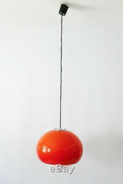 Mid Century Modern PENDANT LAMP Hanging Light by HARVEY GUZZINI, 1970s, Italy
