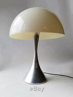 Mid Century Modern Space Age Mushroom Dome Aluminum Hospital Desk Lamp Light