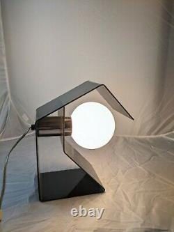 Mid Century Modern Space Age Unique Lucite Table Desk Lamp Light Acrylic 1970s