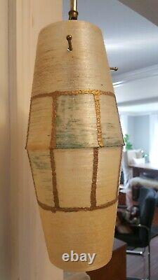 Mid Century Modern Vintage 2 Light Tension -3 way Pole Lamp- As Found