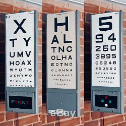 Mid Century Vintage Optician's Test Chart Light Box