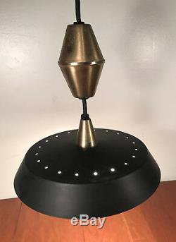 Mid Century modern Thurston Style UFO Saucer Pulldown Chandelier Light Fixture