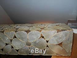 Mid-century Capiz Shell Chandelier/light Shade 37long X 6wide X5high