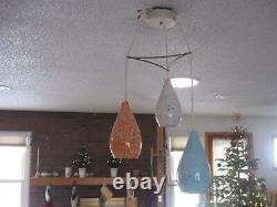 Mid century atomic vintage 3 globe ceramic ceiling fixture Excellent original