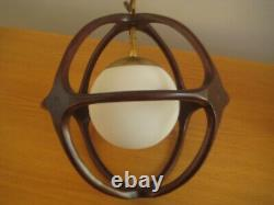 Midcentury Walnut Pearsall Hanging Light