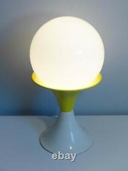 Mod Gilbert Yellow Mushroom Lamp Mid Century Modern Globe Table Light Spage Age