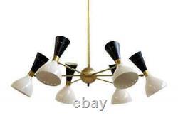 Modern Chandelier Brass Mid Century Sputnik Vintage Light Ceiling Lamp Fixture