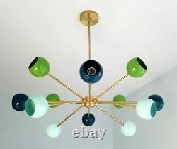 Modern Sputnik Eyeball Shaped Mid Century Industrial Chandelier Ceiling Fixture