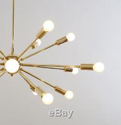 Modernist Handmade Brass Sputnik Chandelier Mid Century Modern Light 32 inch