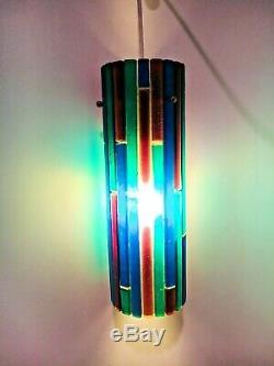 Moe Fiesta Mid Century Lucite Swag Pentant Lamp Ceiling Light Mid Century Modern