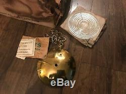NOS Vintage 1960s Mid Century Modern Ceiling Light Fixture by Virden LARGE 20