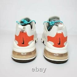 Nike Air Max 270 React Mid-Century Art Men's Light Beige/Orange/Teal Size 11.5