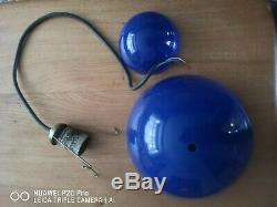 Original 60s flowerpot pendant light by Verner Panton for Louis Poulsen in blue