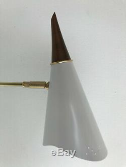 PAIR Guariche STILNOVO Arteluce WHITE Light SCONCE Mid Century LIGHTS Eames