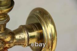 PAIR bronze hand wall lights sconces mid century hollywood regency
