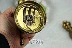 PAIR mid century retro MAISON JANSEN bronze hand sconces wall lights