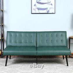 PU Leather Futon Sofa Bed Premium Convertible Folding Living Room Loveseat