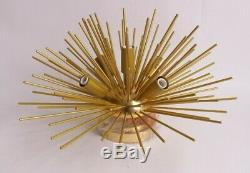 Pottery Barn Explosion flushmount ceiling light gold brass modern mid century