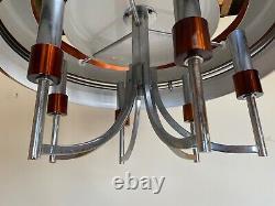 RAAK ED-UFO Copper Chandelier Light Vintage Sputnik Mid Century 1970s PAIR AVAIL