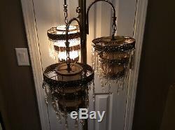 RARE Mid Century Hollywood Regency 3 Light Floor Lamp STUNNING