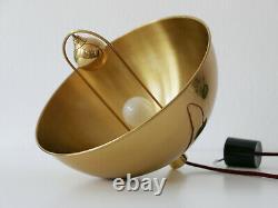 RARE Mid Century Modern PENDANT LAMP Brass HANGING LIGHT by FLORIAN SCHULZ 1960s