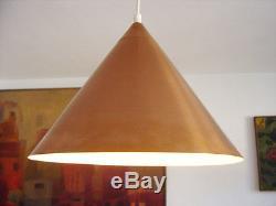 Rare DANISH Mid Century Modern COPPER Lamp PENDANT LIGHT Henningsen POULSEN Era