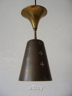 Rare MID CENTURY MODERN Brass CEILING LAMP Pendant Light PAAVO TYNELL 1950s