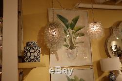 Restoration Style MID Century Cluster Glass Bubbles Pendant Chandelier