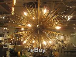 SPUTNIK Style 12 Light Chandelier, Brass, MID CENTURY MODERN, Retro, Star, NEW