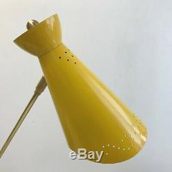 STILNOVO Eames ARTELUCE Tri-Colo FLOOR LAMP Light MOVEABLE ARMS Mid Century DECO