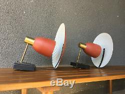 Sconce Lamp MID Century Modern Eames Moe Lighting Lightolier Gerald Thurston Era