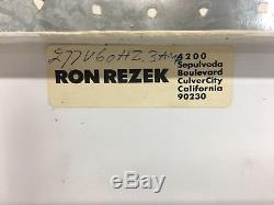 Set of 4 Original Ron Rezek Lighting Mid-Century Modern Zinc Wall Sconces