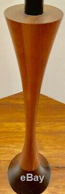 Sexy Hourglass Authentic MCM Wood Lamp Light Mid Century Danish Teak MINT