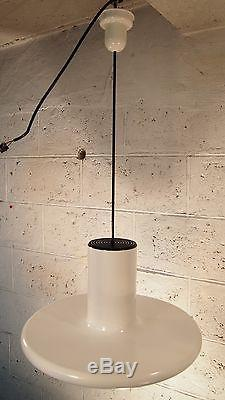 Small 19 Pendant Ceiling Light LITA Mid Century White Fog Morup Industrial 1960